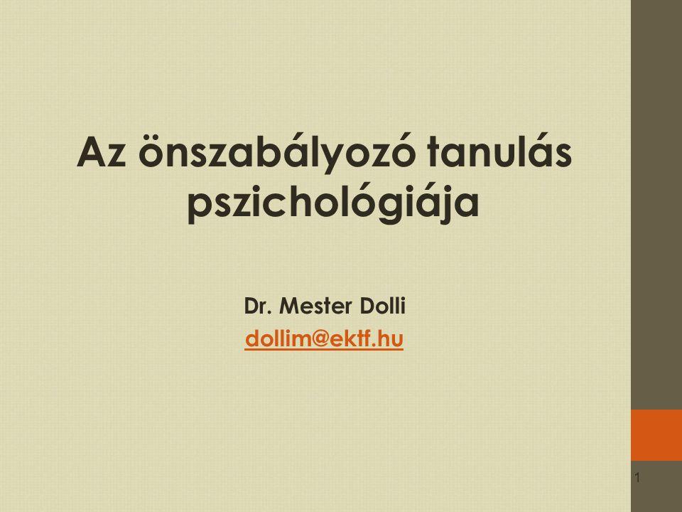 Az önszabályozó tanulás pszichológiája
