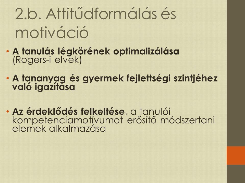 2.b. Attitűdformálás és motiváció