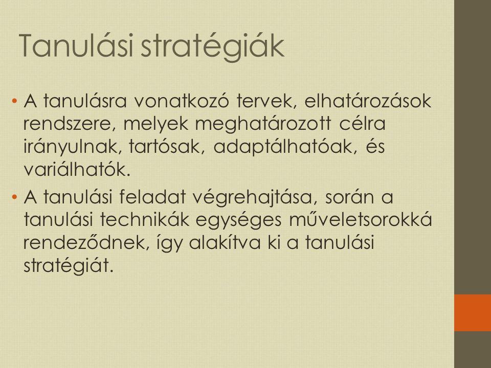 Tanulási stratégiák