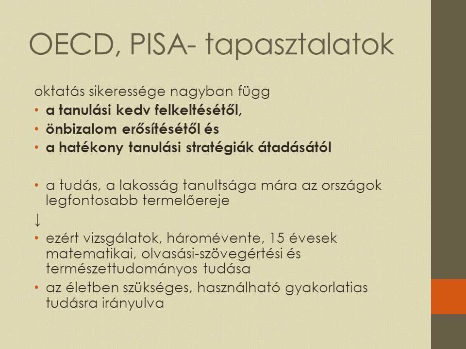 OECD, PISA- tapasztalatok