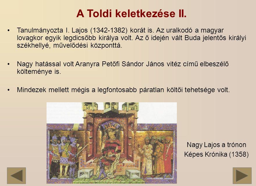 A Toldi keletkezése II.