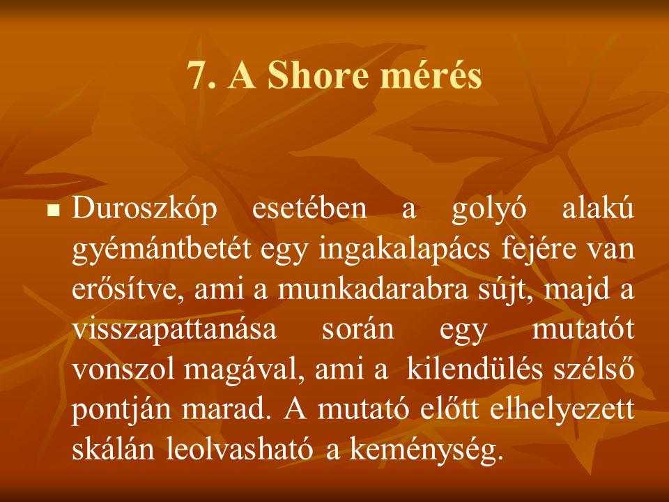 7. A Shore mérés