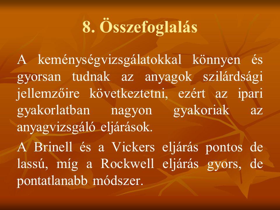8. Összefoglalás