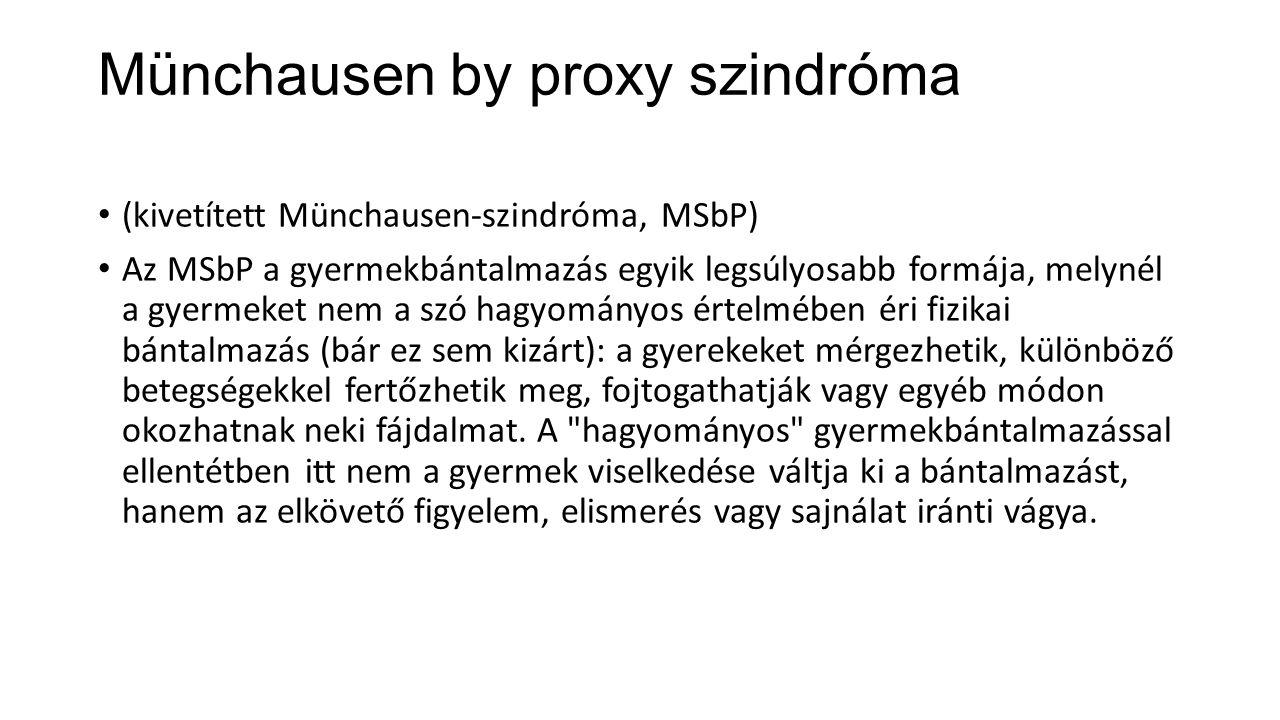 Münchausen by proxy szindróma