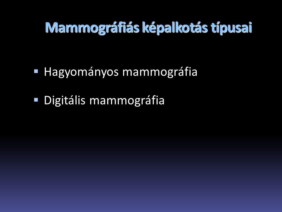 Mammográfiás képalkotás típusai