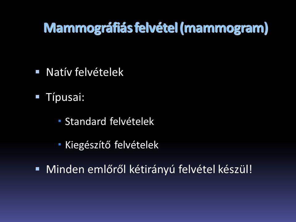 Mammográfiás felvétel (mammogram)