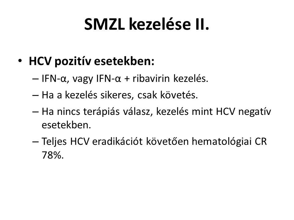SMZL kezelése II. HCV pozitív esetekben: