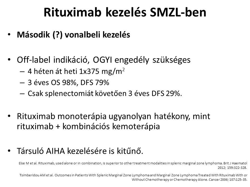 Rituximab kezelés SMZL-ben