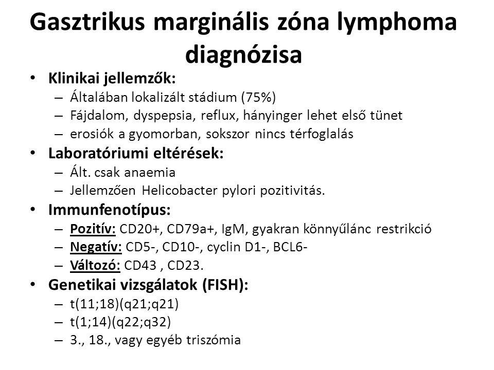 Gasztrikus marginális zóna lymphoma diagnózisa