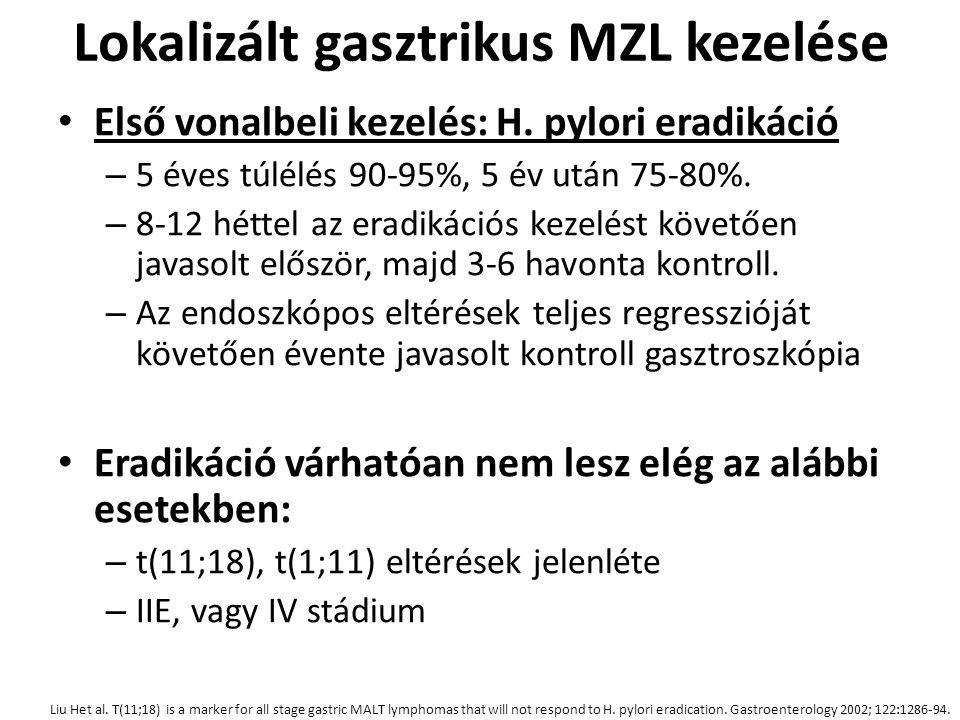 Lokalizált gasztrikus MZL kezelése