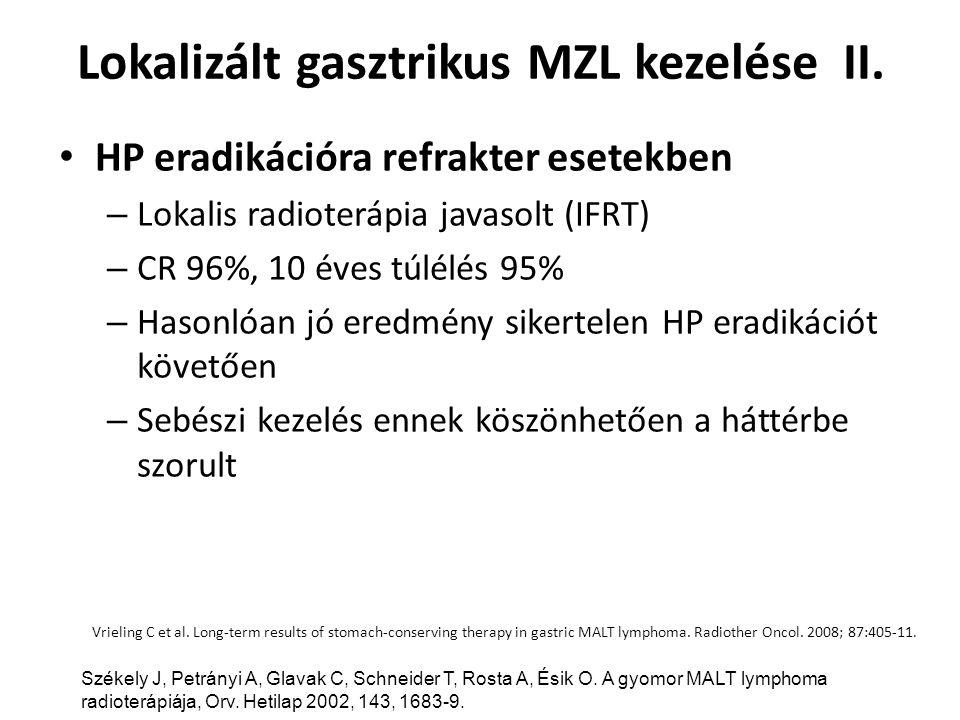 Lokalizált gasztrikus MZL kezelése II.