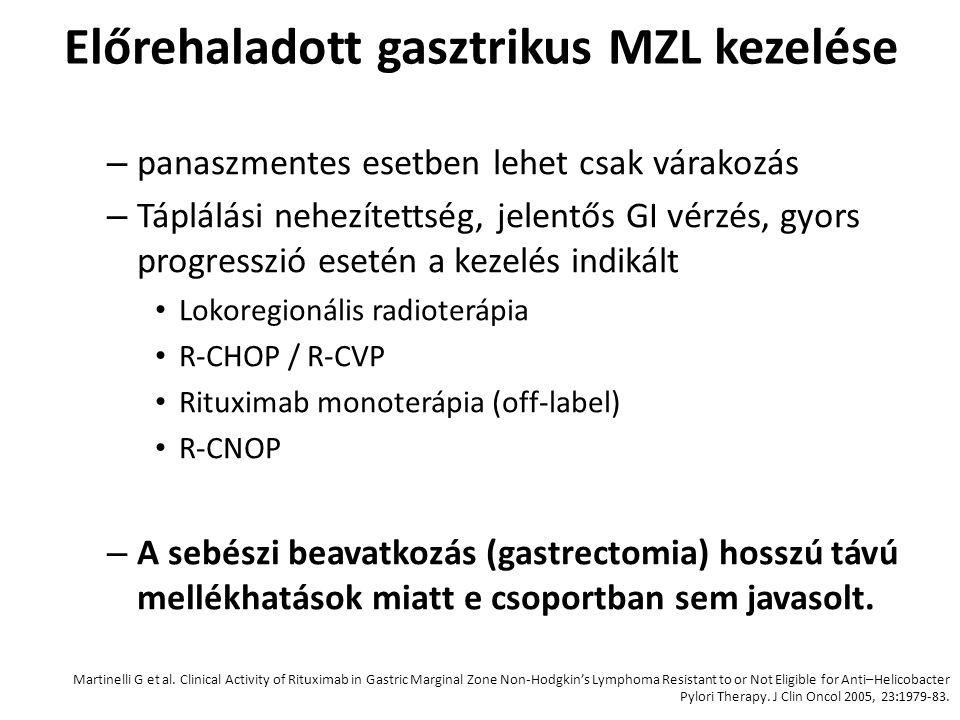 Előrehaladott gasztrikus MZL kezelése
