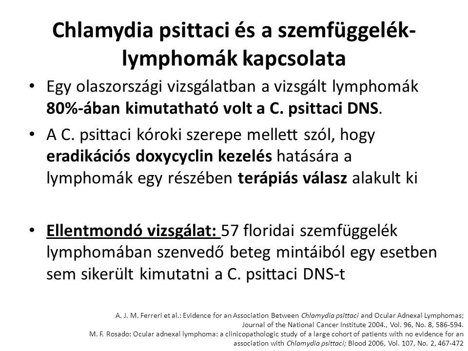 Chlamydia psittaci és a szemfüggelék-lymphomák kapcsolata