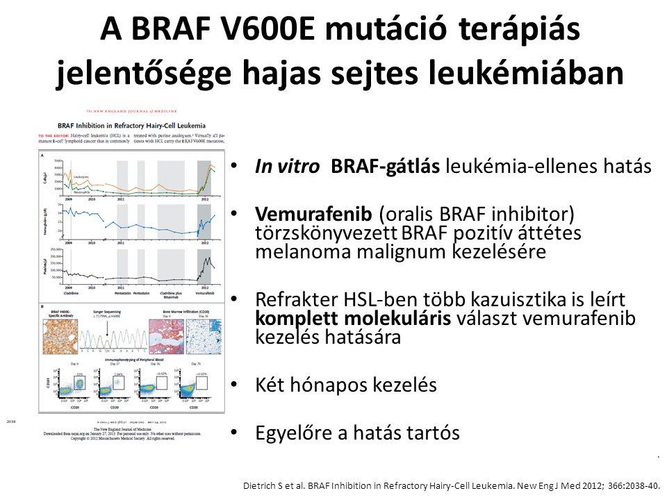 A BRAF V600E mutáció terápiás jelentősége hajas sejtes leukémiában