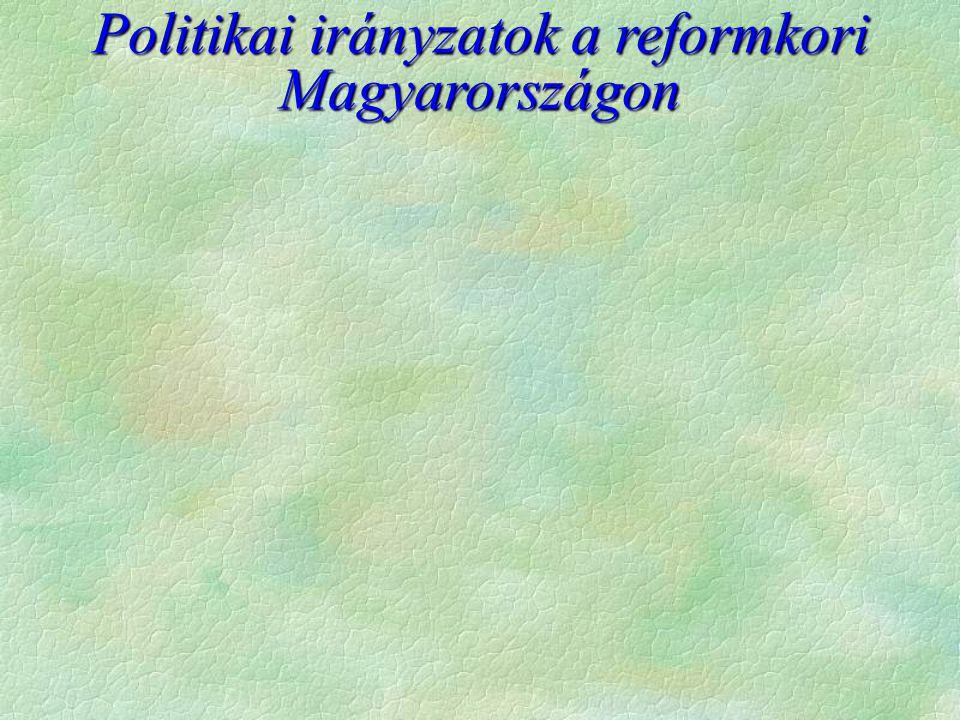 Politikai irányzatok a reformkori Magyarországon