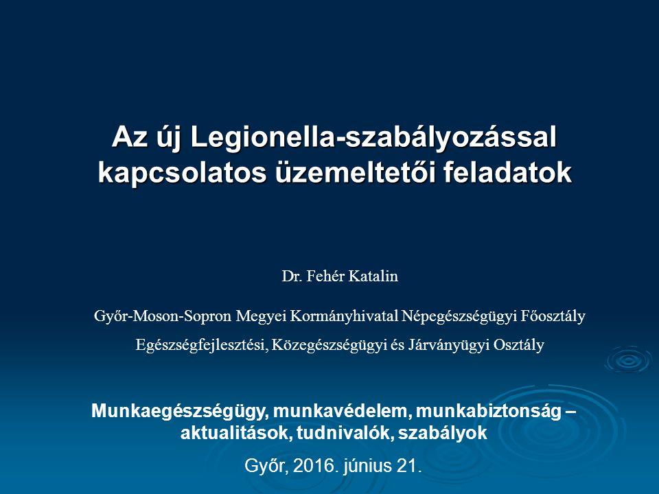 Az új Legionella-szabályozással kapcsolatos üzemeltetői feladatok