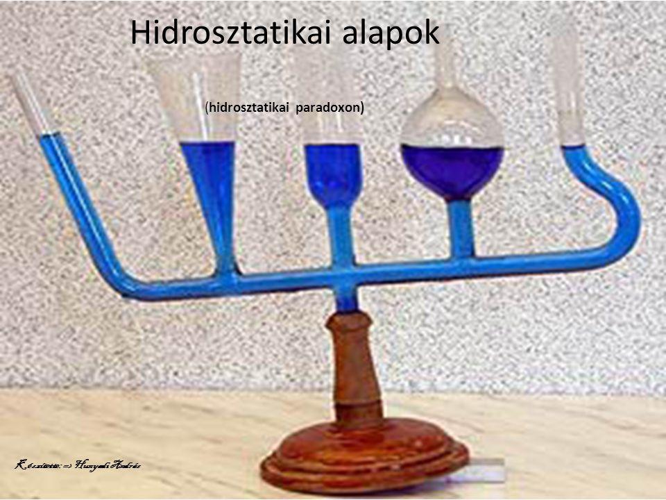 Hidrosztatikai alapok (hidrosztatikai paradoxon)
