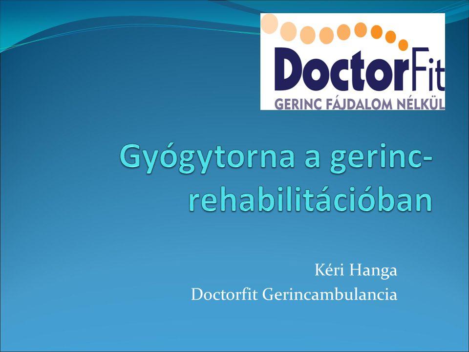 Gyógytorna a gerinc-rehabilitációban