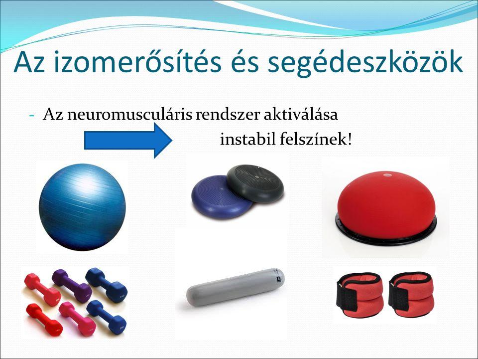 Az izomerősítés és segédeszközök