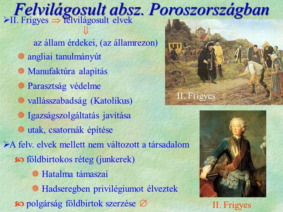 Felvilágosult absz. Poroszországban