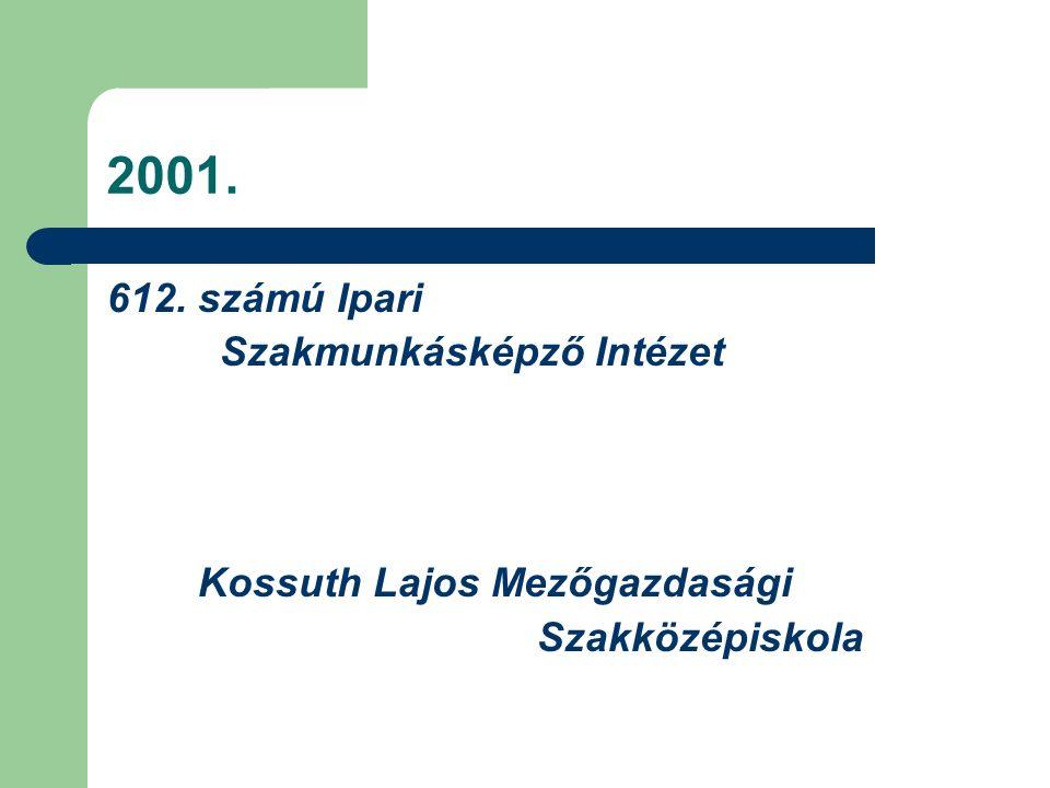 2001. 612. számú Ipari Szakmunkásképző Intézet