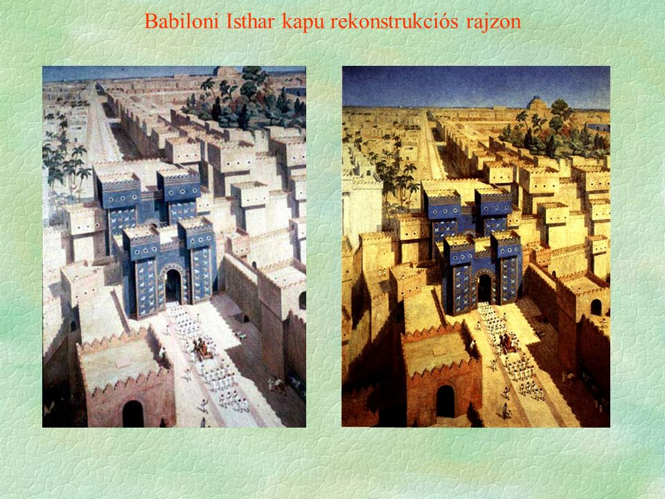 Babiloni Isthar kapu rekonstrukciós rajzon
