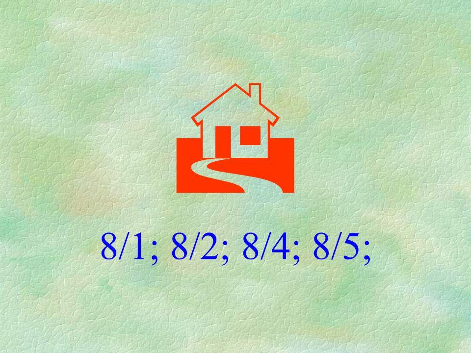  8/1; 8/2; 8/4; 8/5;