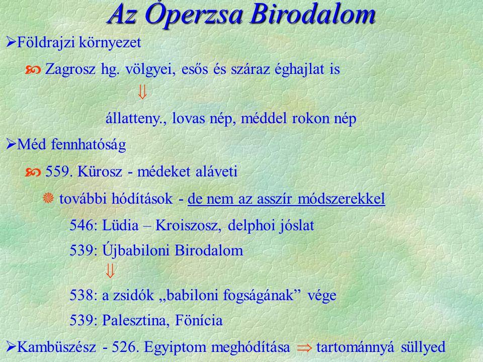 Az Óperzsa Birodalom Földrajzi környezet