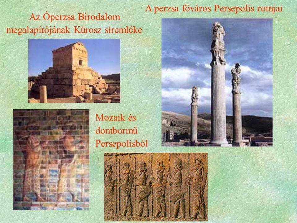 A perzsa főváros Persepolis romjai