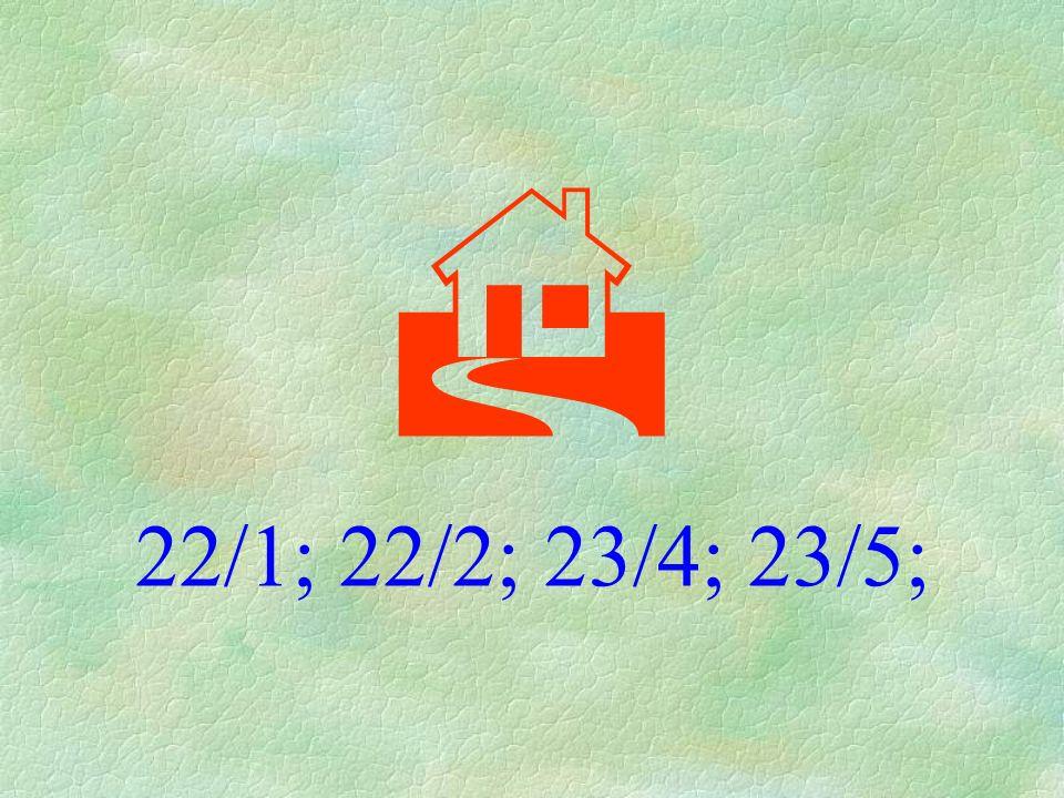  22/1; 22/2; 23/4; 23/5;