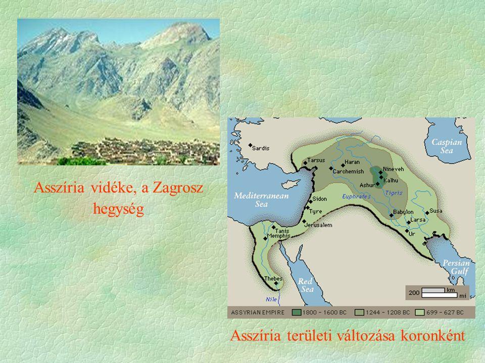 Asszíria vidéke, a Zagrosz hegység