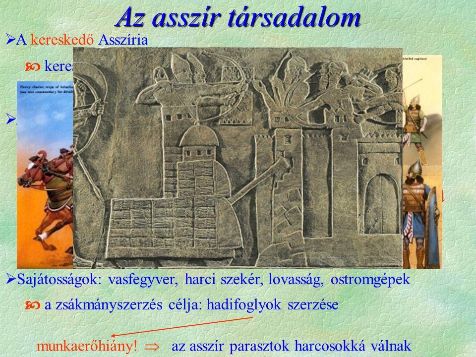 Az asszír társadalom A kereskedő Asszíria