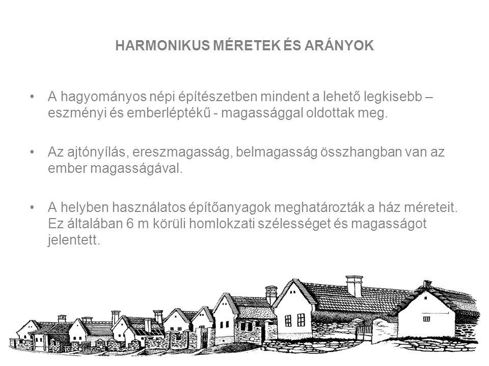 HARMONIKUS MÉRETEK ÉS ARÁNYOK