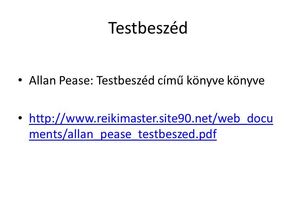 Testbeszéd Allan Pease: Testbeszéd című könyve könyve