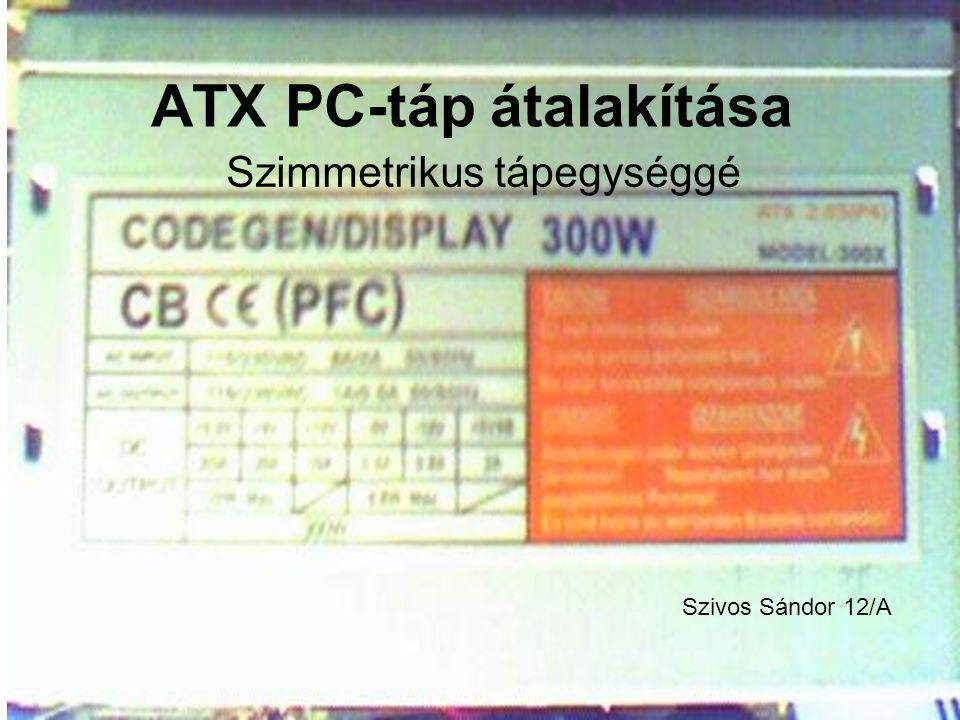 ATX PC-táp átalakítása
