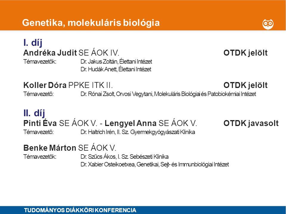 Genetika, molekuláris biológia