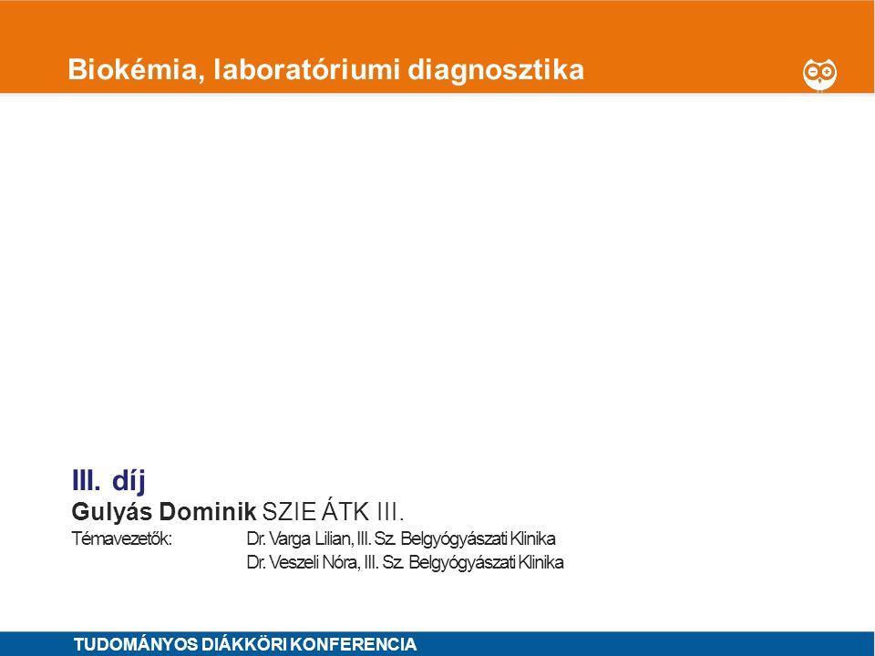Biokémia, laboratóriumi diagnosztika