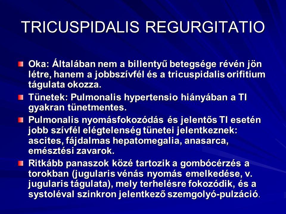 TRICUSPIDALIS REGURGITATIO