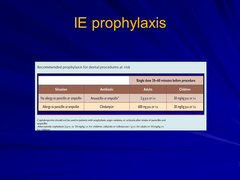 IE prophylaxis