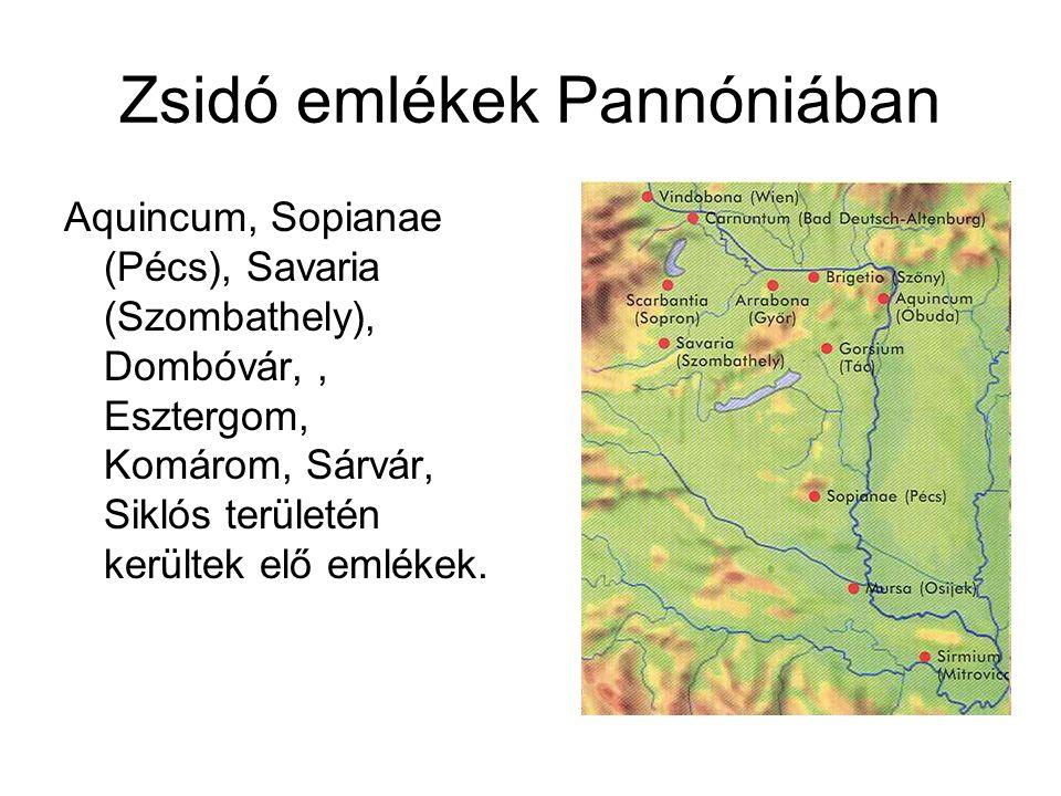 Zsidó emlékek Pannóniában