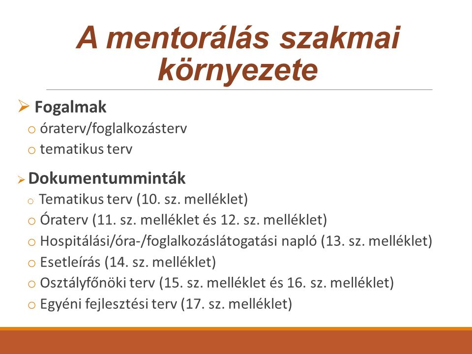 A mentorálás szakmai környezete