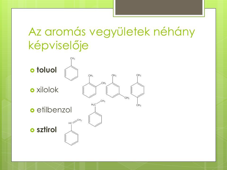 Az aromás vegyületek néhány képviselője