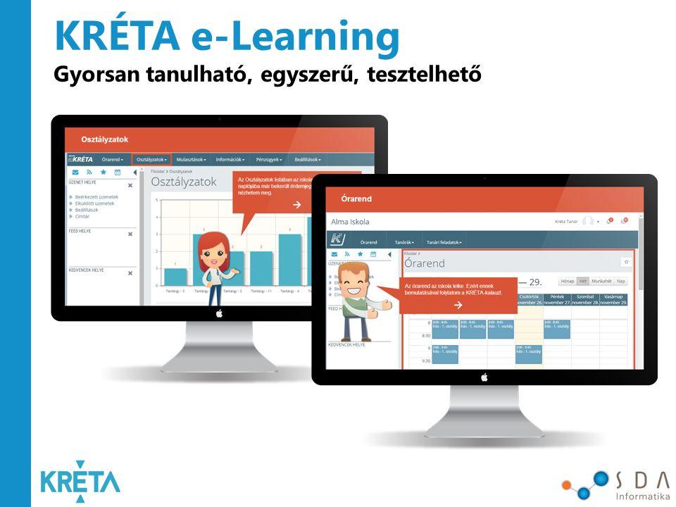 KRÉTA e-Learning Gyorsan tanulható, egyszerű, tesztelhető