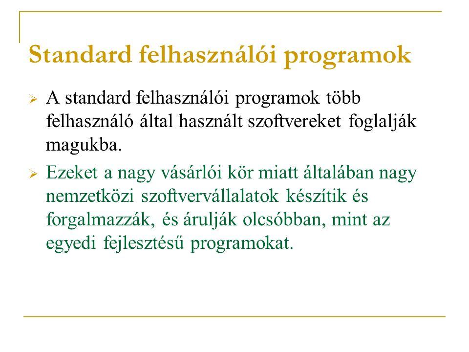 Standard felhasználói programok