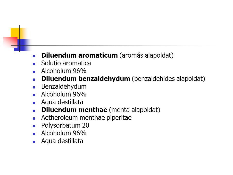 Diluendum aromaticum (aromás alapoldat)