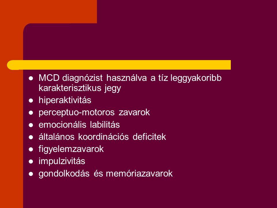 MCD diagnózist használva a tíz leggyakoribb karakterisztikus jegy