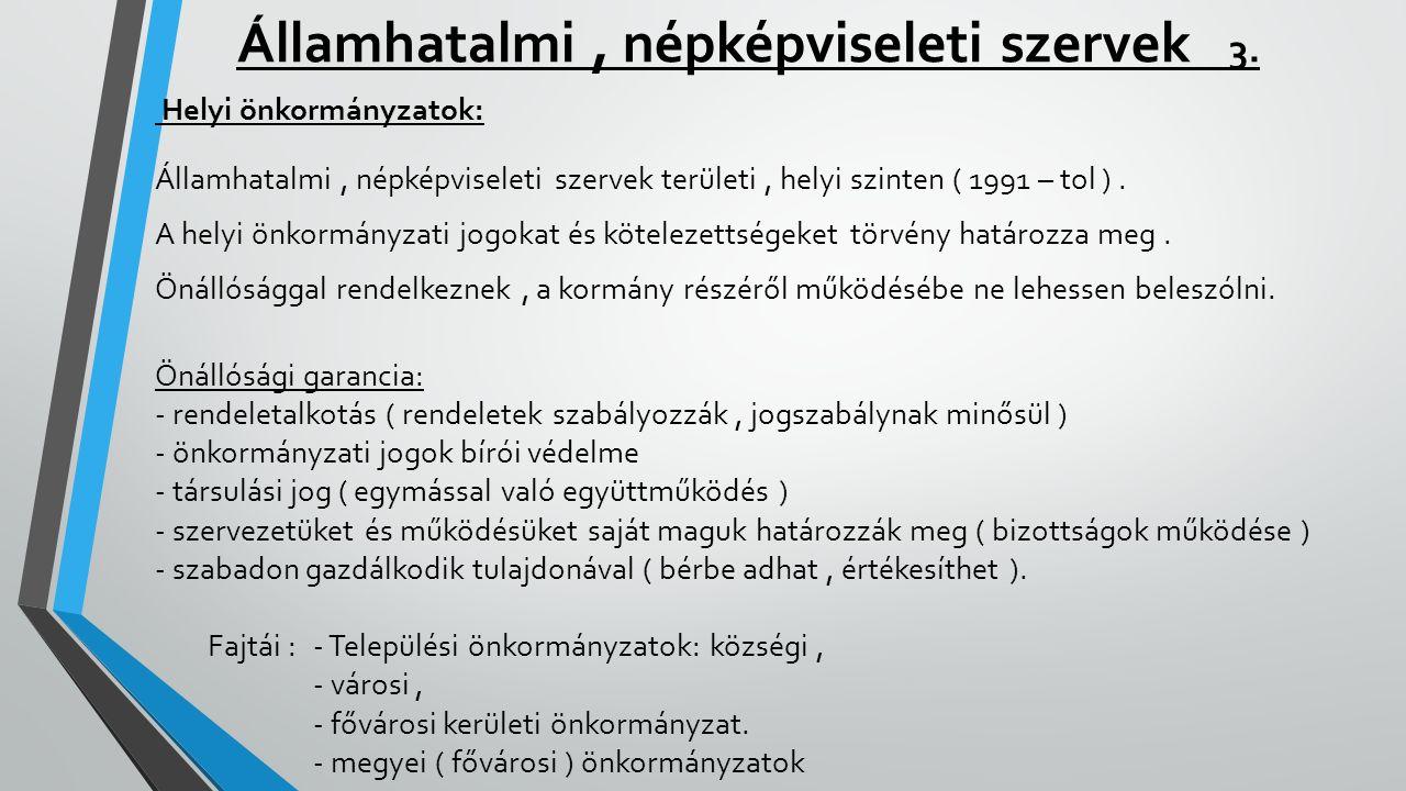 Államhatalmi , népképviseleti szervek 3.