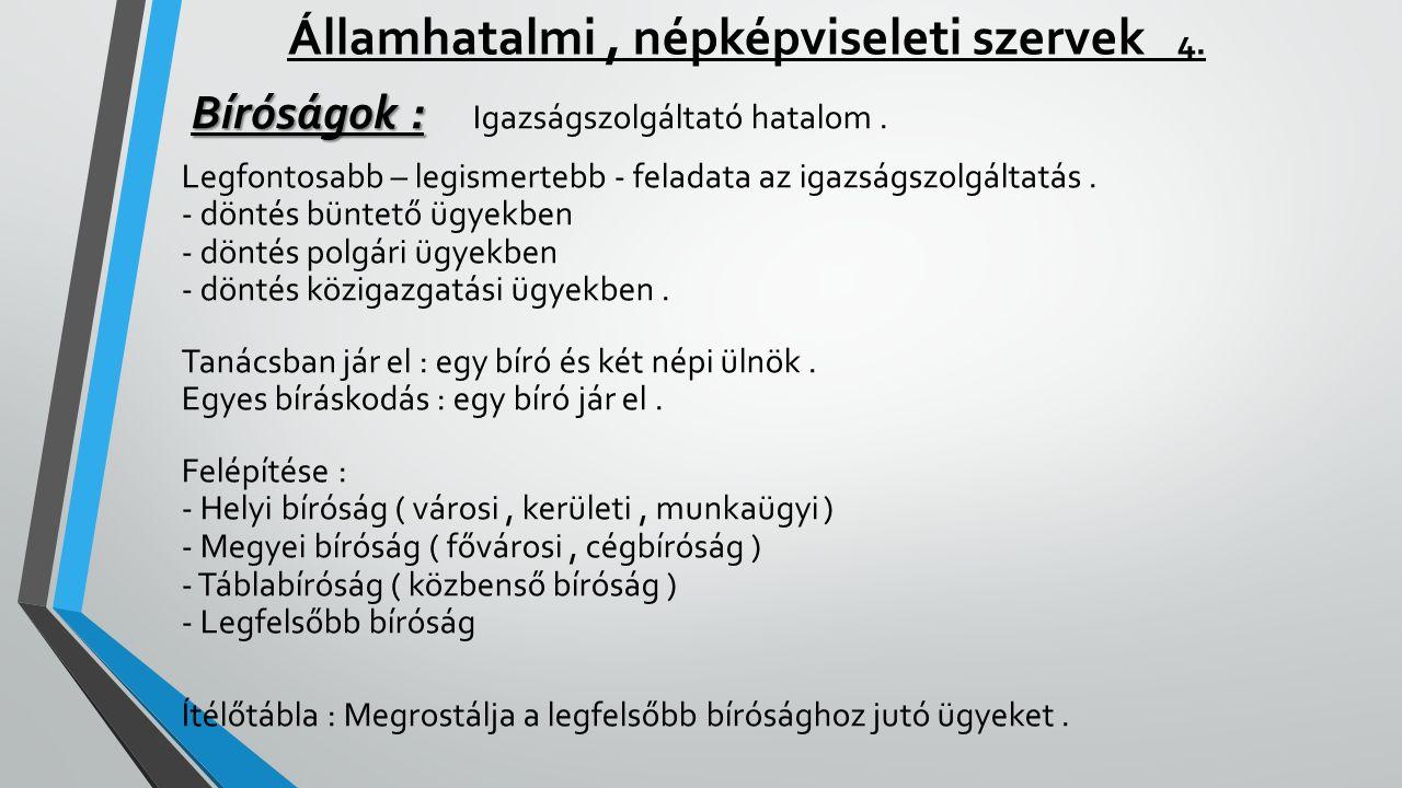 Államhatalmi , népképviseleti szervek 4.