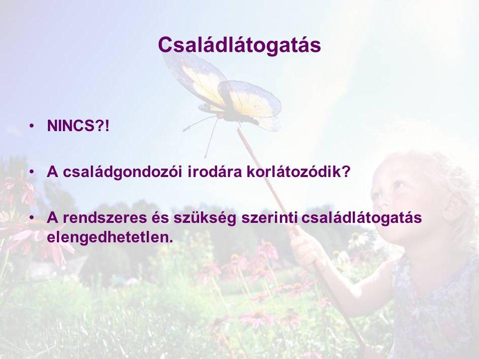 Családlátogatás NINCS ! A családgondozói irodára korlátozódik
