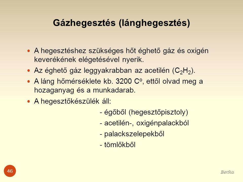 Gázhegesztés (lánghegesztés)